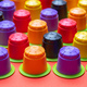 Coffee espresso capsules, eco friendly, compostable on orange color background - PhotoDune Item for Sale