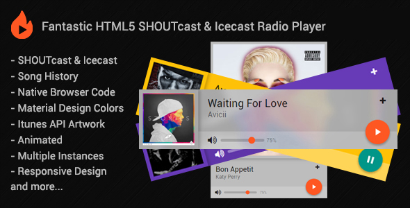HTML5 SHOUTcast & Icecast Radio Player - CodeCanyon Item for Sale