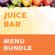 Juice Bar Menu Print Bundle 2 - GraphicRiver Item for Sale