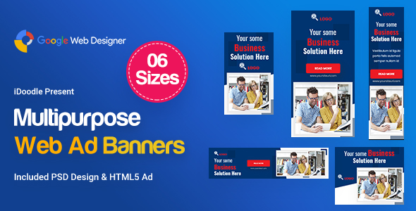 Multi-Purpose Banners HTML5 D52 - GWD & PSD - CodeCanyon Item for Sale