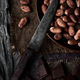 chocolate and cocoa beans and old knife - PhotoDune Item for Sale