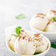 Vanilla ice cream with grated chocolate and mint - PhotoDune Item for Sale