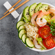 Hawaiian poke bowl with shrimps - PhotoDune Item for Sale