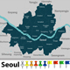 Map of Seoul South Korea - GraphicRiver Item for Sale