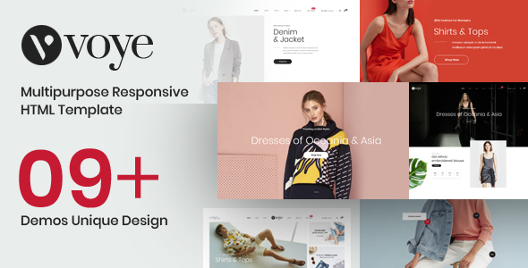 Voye – Multi Layout Fashion eCommerce HTML Template - Fashion Retail