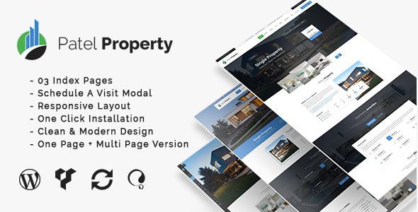 PatelProperty - Single Property Real Estate WordPress Theme - Real Estate WordPress