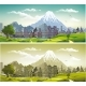 The Metropolis on the Background of Mountains - GraphicRiver Item for Sale