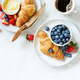 Breakfast with coffee, berries and croissant - PhotoDune Item for Sale