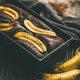 Freshly baked chocolate banana cake with cinnamon in baking tin - PhotoDune Item for Sale