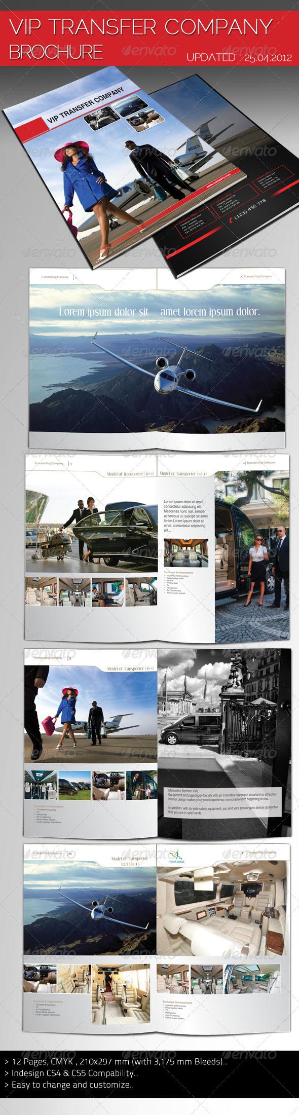 Vip Transfer Company Brochure - Corporate Brochures