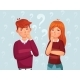 Young Thinking Couple - GraphicRiver Item for Sale