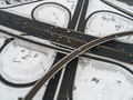Aerial view of a freeway intersection Snow-covered in winter. - PhotoDune Item for Sale