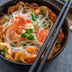 Thai omelette with spicy noodle salad on top - PhotoDune Item for Sale