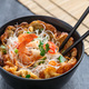 Thai omelette with noodles and shrimps, copy space - PhotoDune Item for Sale