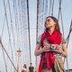 Young tourist on Brooklyn Bridge - PhotoDune Item for Sale