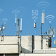 5G antennas and GSM transmitters. Concept for high speed 5G inte - PhotoDune Item for Sale