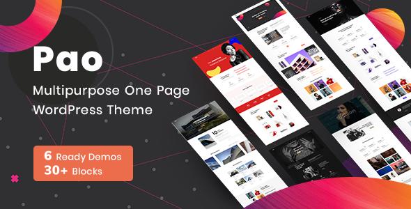 OnePage Parallax PAO -  OnePage  WordPress - Portfolio Creative