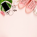 Beautiful flat lay with trendy accessories, close up - PhotoDune Item for Sale