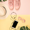 Flat lay with trendy accessories, close up - PhotoDune Item for Sale