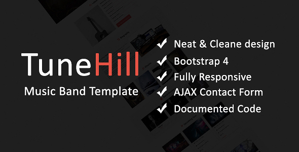 TuneHill - Music Band Template - Music and Bands Entertainment