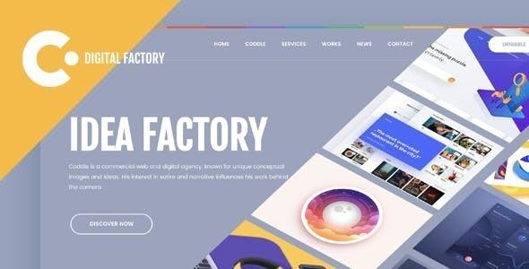 Coddle | Digital Factory Joomla Template - Portfolio Creative