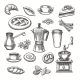 Vintage Desserts and Coffee Sketch - GraphicRiver Item for Sale