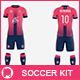 Men's Full Soccer Team Kit mockup V4 - GraphicRiver Item for Sale