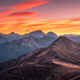 Mountains at beautiful sunset in autumn in Dolomites, Italy - PhotoDune Item for Sale