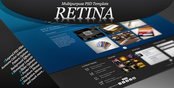 Retina – Multipurpose PSD Template