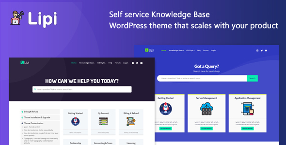 Download Lipi – Self Service Knowledge Base and Creative WordPress Theme Free Nulled
