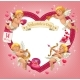 Valentines Day Heart with Cupids - GraphicRiver Item for Sale