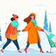 Women with Dog and Stroller - GraphicRiver Item for Sale
