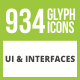 934 UI & Interfaces Glyph Inverted Icons - GraphicRiver Item for Sale