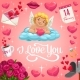 Cupid with Heart on Cloud - GraphicRiver Item for Sale