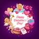 Valentines Day Love Hearts and Cupids - GraphicRiver Item for Sale