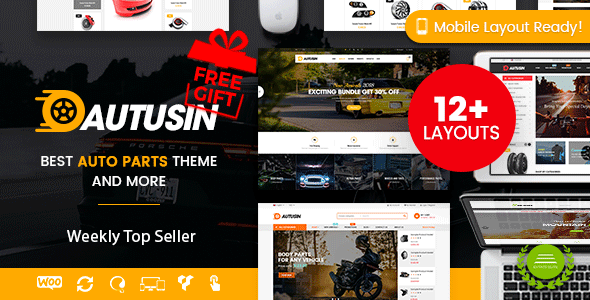Autusin - Auto Parts & Car Accessories Shop WordPress WooCommerce Theme (12+ Homepages Ready) - WooCommerce eCommerce