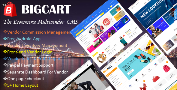 Bigcart  - Ecommerce Multivendor System - CodeCanyon Item for Sale