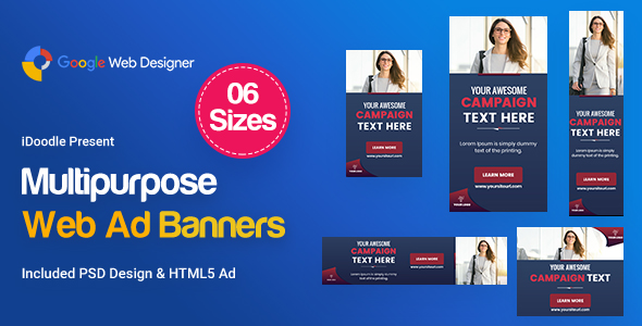Multi-Purpose Banners HTML5 D59 Ad - GWD & PSD - CodeCanyon Item for Sale