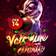 Valentine Party Flyer Template 3 - GraphicRiver Item for Sale