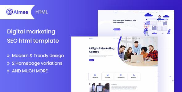 Aimee - Digital Marketing & SEO Template - Business Corporate