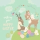 Cartoon Deer with Bunnies - GraphicRiver Item for Sale