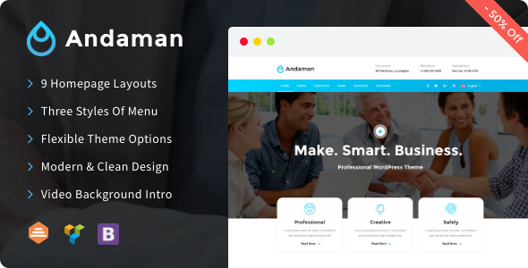 Andaman - Creative & Business WordPress Theme - Business Corporate