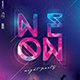 Neon Night Party Poster - GraphicRiver Item for Sale