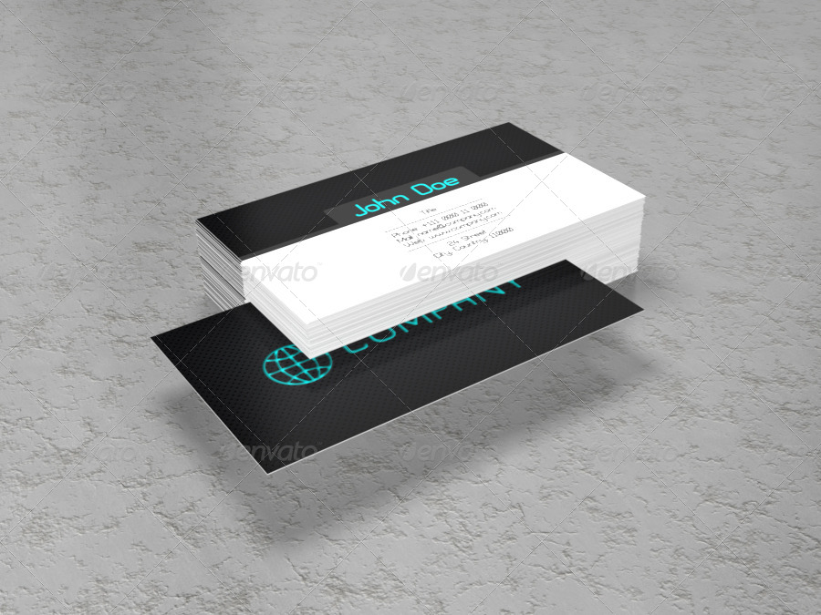 Business Card 3D Mock-Up Pack No.1 by BlueVistaDesign | GraphicRiver