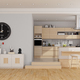 Modern wooden and white kitchen - PhotoDune Item for Sale