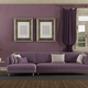 Purple retro living room - PhotoDune Item for Sale