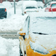 Automobile parking lot with cars covered in snow - PhotoDune Item for Sale
