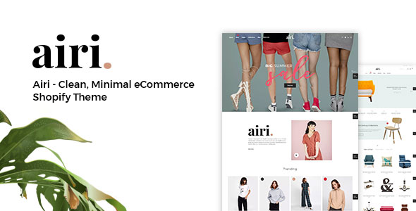 Airi - Clean, Minimal eCommerce Shopify Theme