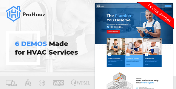 ProHauz – HVAC Services WordPress Theme