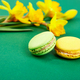 French delicacy, macaroons colorful with spring blossom. - PhotoDune Item for Sale